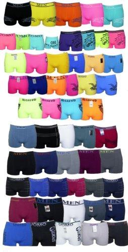 5, 10 oder 20 Boxershorts Pants Mikrofaser Unterhosen Retro (L 6, 10 Stück Gemischt)