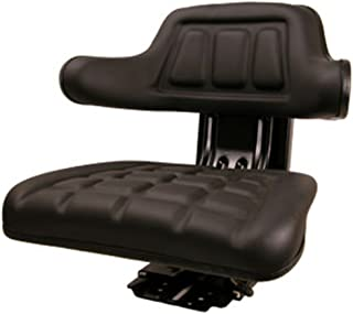 New Black Universal Tractor Seat Susp w/ Base & Tracks Ford New Holland Case-IH
