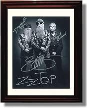 Framed ZZ Top Autograph Replica Print