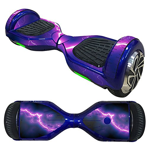 Fewear Protective Skin Decal for 6.5in Self Balancing Scooter Hoverboard 2 Wheels- Sticker for Hover Board - Skin for Self-Balancing Electric Scooter - Decal for Self Balance Mobility Longboard (J)
