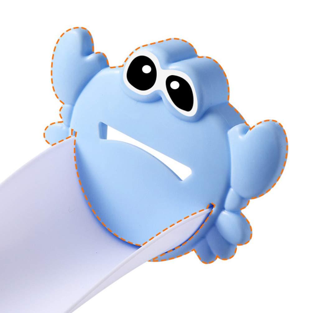 ARTIBETTER 2pcs Children Sink Handle Extender Crab Shaped Water Faucet Extension Helper for Toddler Babies Blue Pink