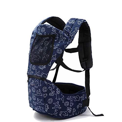 MYRCLMY Porte-bébé Le Plus Populaire/Top écharpe Porte-bébé Tout-Petit Sac à Dos Envelopper bébé Rider/Haute qualité hipseat bébé Manduca,Bleu