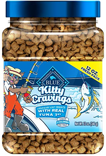 Blue Buffalo Kitty Cravings Crunchy Cat Treats 12 oz tub $5.43