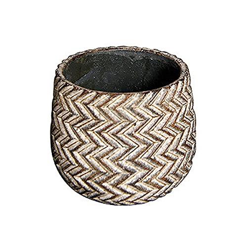 SUHETI Macetas de Cemento con Patrón de Neumáticos, Creatividad Maceteros Decorativos Interior, para Flores Áloe Orquídea Plantas Suculentas Cactus,B