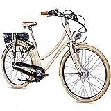CHRISSON 28 Zoll E-Bike City Bike für Damen - EH1 beige mit 7 Gang Shimano Nexus Nabenschaltung -...