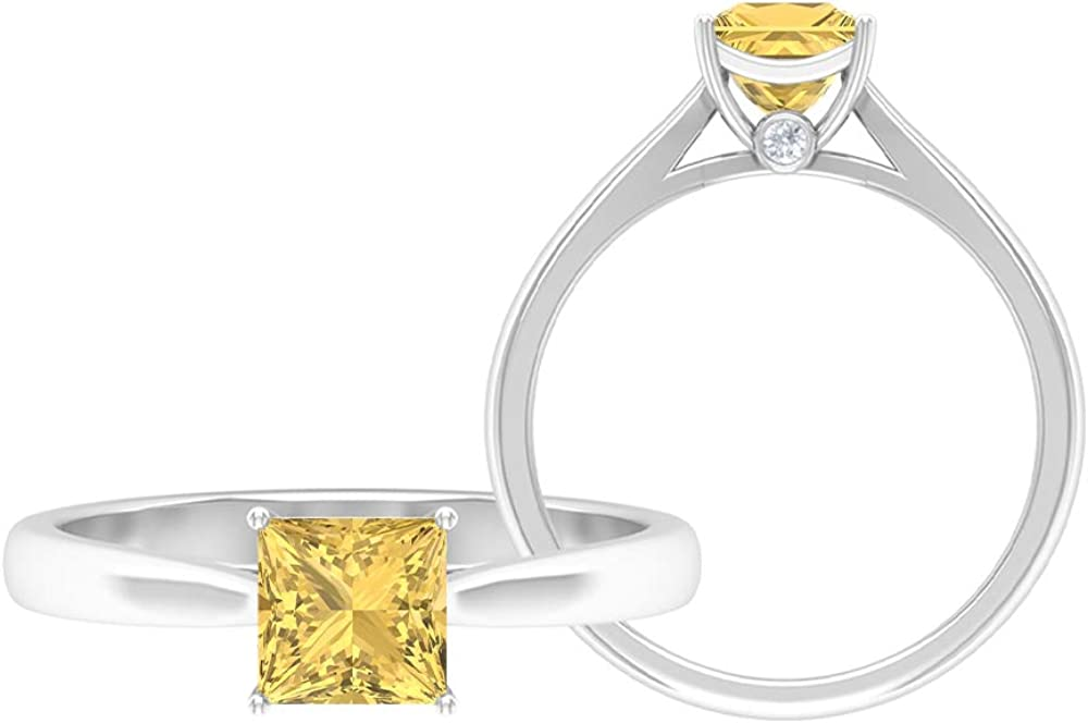 6.5 MM Princess Cut Solitaire Moissanite D-VSSI Limited price sale Gold Ring 2021