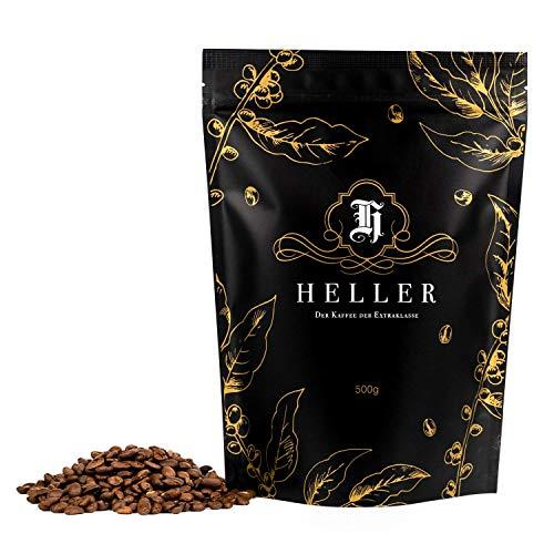 Heller Premium Kaffee I Ganze Kaffeebohnen aus Uganda mit füllig, weichem Geschmack I eleganter Bio Kaffee mit süßlichem Charakter I Ganze Kaffeebohnen 100% Arabica I keine Zusatzstoffe I 500 gramm