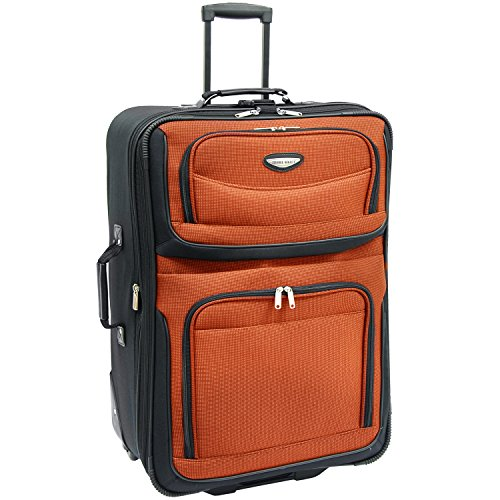 Travel Select Amsterdam Expandable Rolling Upright Luggage, Orange, Checked-Large 29-Inch