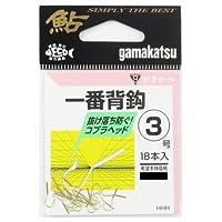 がまかつ(Gamakatsu) シングルフック 一番背鈎 3号 18本 金 66574