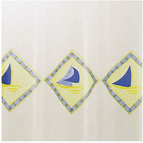 Douchegordijn, drie zijden, 240 x 200 cm, 240 x 240 cm, PVC, versterkt