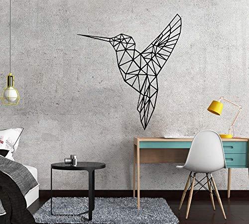 3D geometría pájaro auto impermeable etiqueta de la pared decoración del hogar arte calcomanía para habitación de niños sala de estar pegatinas Mural A1 30x33cm