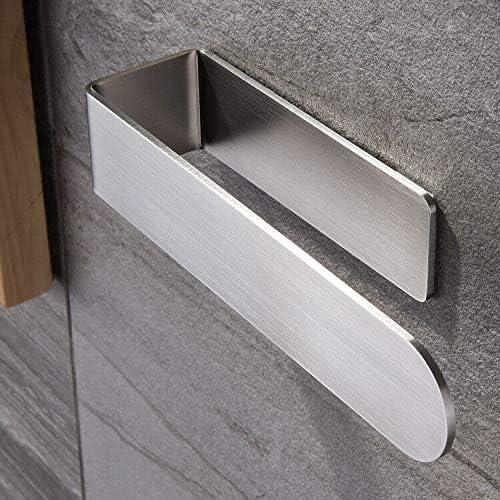 Taozun Hand Towel Holder/Hand Towel Ring - Self Adhesive Bathroom Towel Bar Stick on Wall, SUS 304 Stainless Steel Br...