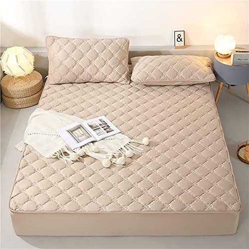 BOLO Colcha de algodón con retazos de patchwork, hecha de manta acolchada transpirable, bordes elásticos duraderos, 150 x 200 + 30 cm