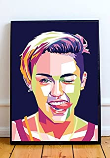 Miley Cyrus Limited Poster Artwork - Professional Wall Art Merchandise (More Sizes Available) (8x10)
