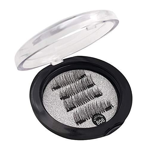 Magnetische Wimpern Magnete Natürlich Magnetic Fake Lashes ohne Eyeliner 3D Volumen Set Wiederverwendbar