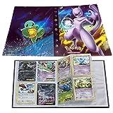 ESOOR Pokemon Comercio Tarjeta Álbum, Pikachu Collection Handbook, Pokemon Cards Album Book La Mejor protección para Pokemon Trading Cards GX EX (Mewtwo)