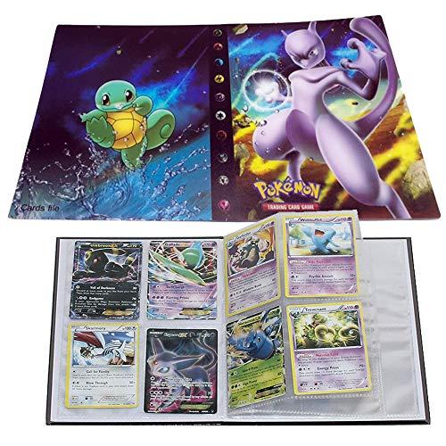 ESOOR Pokemon Karten Album, Pokemon Karten Halter, Pokemon Ordner für Karten Album Buch Bester Schutz für Pokemon Sammel Karten GX EX Box(Mewtwo)