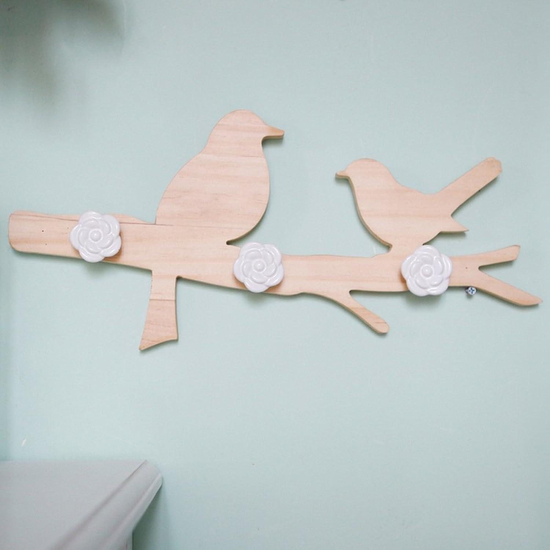 XIA Coat Rack Wall Hanging Solid Wood Decoration 45  3.9  20.5cm Hangers Entrance