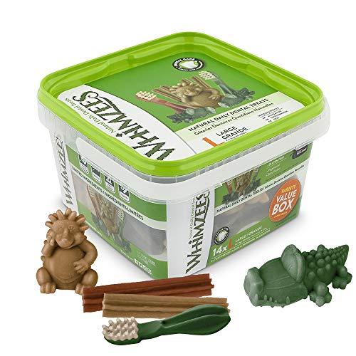 WHIMZEES Natürliche Getreidefreie Zahnpflegesnacks, Kaustangen für Hunde, Gemischte Vielfaltsbox, L, 14 x 60 g