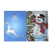 メッセージカード 絵画クリスマスカード刺繡バースデーペーパーDIYグリーティングポストカード漫画クラフトキッズギフト 子供 誕生日 新年 (Size:260 X 180 Mm; Color:08#)