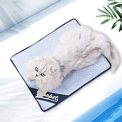 Warmiehomy Tappetino di Raffreddamento per Cani, Traspirante Tappeto Refrigerante per Cane Gatti Cuscino Lettino per Animali Domestici Letto Non Tossico per Cane o Gatto