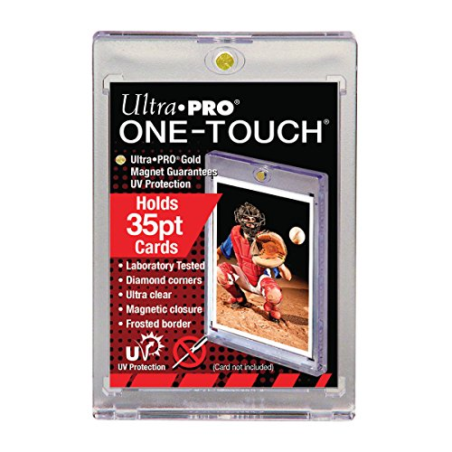 10 Ultra Pro 35pt Magnetic Card Holder Cases - Holds Regular Baseball, Football, Hockey Cards
