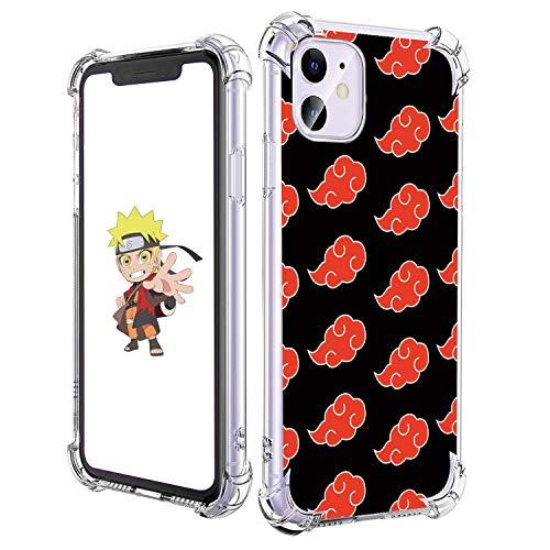 STSNano Case for iPhone 11 6.1', Cute Kawaii Cartoon Design Soft Clear TPU Cute Fun Cover, Character Anime Aesthetic for Boys Girls Youth Teens Funny Cases for iPhone 11 Red Cloud