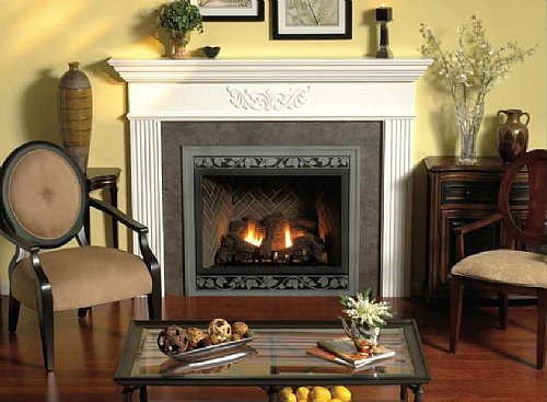 "Empire Comfort Systems Premium 36"" Direct-Vent NG Multi-Function Control Fireplace"