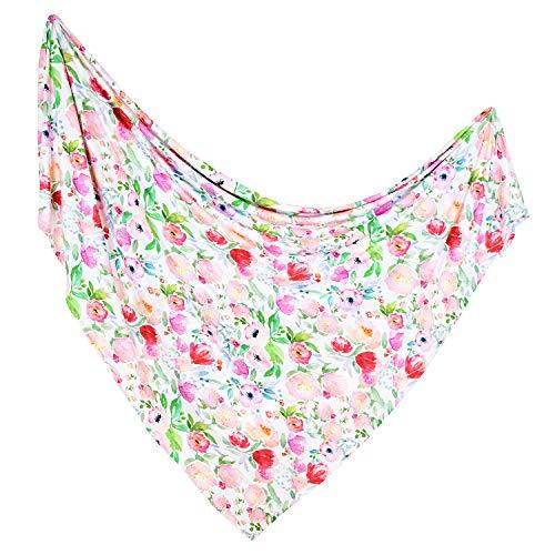 ADDISON BELLE Premium Knit Swaddle Blanket - Watercolor Floral Print