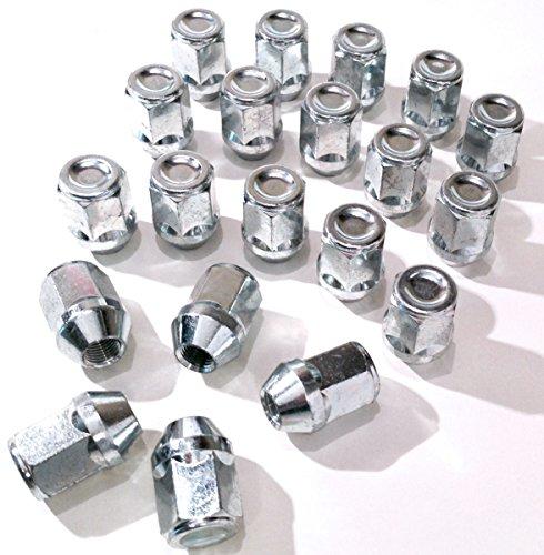 Lot de 20 écrous hexagonaux pour jante alliage Toyota - filetage M12 x 1,25 - joint plat - 21 mm
