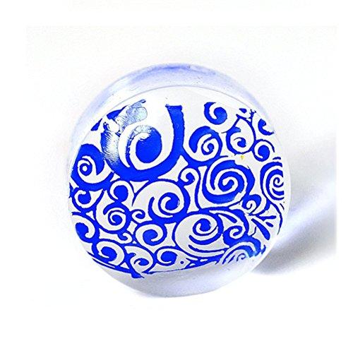 Frcolor Juego de 2 sellos transparentes de silicona para decoración de uñas