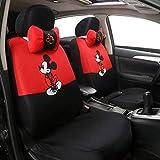 Xljh 12 stücke Niedlichen Cartoon Universal Autositzbezug Mickey Sitzbezüge Innen Zubehör Sandwich Stoff Auto Seat Protector,D