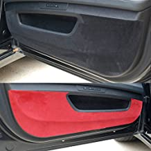 LIGHTKOREA Premium Suede Door Entry Protect Anti Scratch Cover Accessories for Hyundai Veloster, Turbo 2012 2017 (Black)
