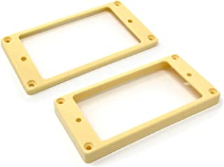 Vintage Forge Cream Curved Bottom Humbucker Pickup Mounting Ring Set (Bridge & Neck) for Epiphone Guitars HR1800C-CRM