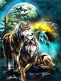 Rompecabezas De 1000 Piezas,Serie De Animales Wolf Wooden Family Puzzle Set, Desafío Cerebral Infantil Jigsaw Games, Rompecabezas Intelectuales De Educación Padre-Hijo Juguete, Decoración De Pared