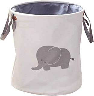Polyester Storage Baskets, DELFINO Collapsible & Lovely Laundry Bin/laundry Basket/Laundry Hamper/Bedroom Storage Solution...