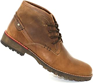 San Polos Leather Chukka Boots (Coffee Brown), Genuine Full Grain Leather, Lace Up, Rounded Toe, Ankle Boots, Casual, Modern Style, Handcrafted,