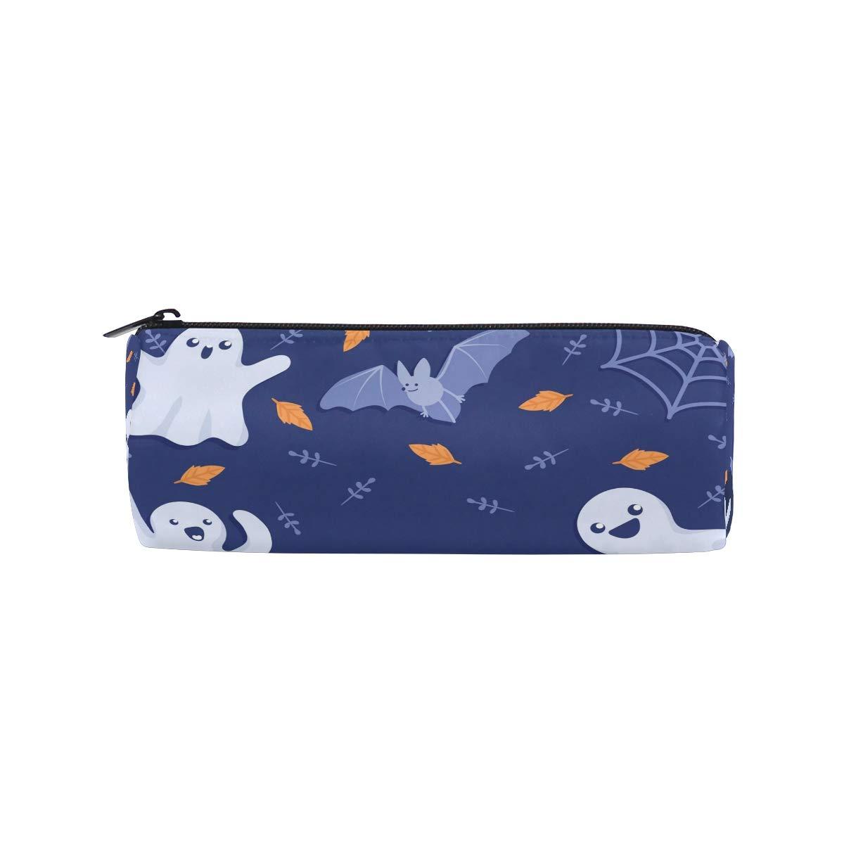 Malplina - Estuche redondo para bolígrafos, diseño de Goblin y murciélago: Amazon.es: Oficina y papelería