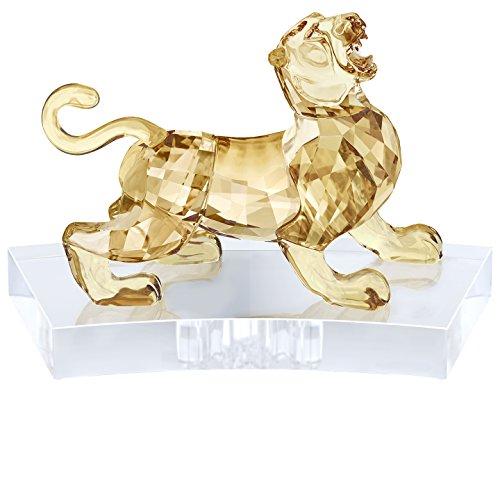 Swarovski 9,1 x 13,5 x 8,7 cm Chinese sterrenbeeld - tijger, kristal, goud transparant
