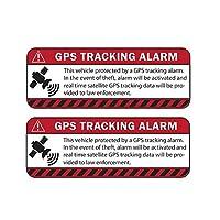BJRHFN 13.1CMx 4.9CM 2X車のステッカー反射警告アラームGPSの追跡はオートバイアクセサリーデカール