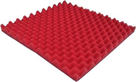 最高のギフト Cathy Clara アコースティックフォームパネル サウンドストップ 吸収スポンジ スタジオ KTV 防音 ホーム&スタジオの断熱に最適 50x50x2cm レッド 555