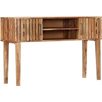 Festnight Mesa Consola de Madera Maciza de Acacia Mesas para Recibidor Mesa Entrada Madera 120x35x76 cm: Amazon.es: Hogar