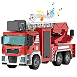 Kids Toys Fire Truck Take Apart Friction Powered Truck Toys with Light and...