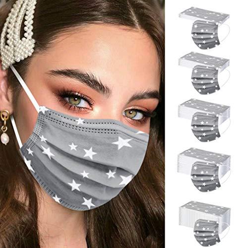 Keepwin 50 Stück Einweg 3 lagig Mund-Nasen-Schutz, Motiv Atmungsaktive Multifunktionstuch Bandana Halstuch Schals für Erwachsene und Kinder (G-50PC) - 4