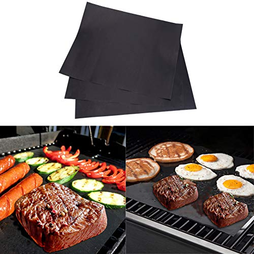 LYTEDB 3 stks/5 stks PTFE Anti-stick BBQ Grill Mat Hot Plate Barbecue Bakken Liners Draagbare Outdoor Picknic Cooking Tools 44x33cm