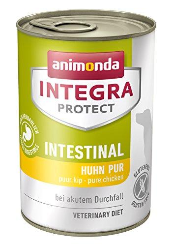 animonda Integra Protect Hunde Intestinal, Diät Hundefutter, Nassfutter bei Durchfall oder Erbrechen, Huhn Pur, 6 x 400 g