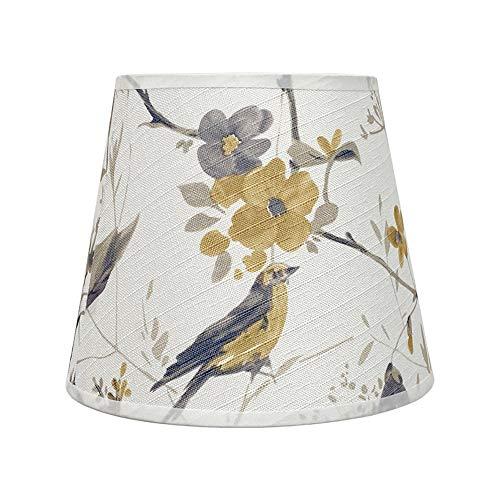 DULEE pantallas superiores de 6,5 cm de alto x 25,4 cm de fondo E27 para lámpara de mesa, pantallas de lámpara, lámpara de mesa de noche, diseño de pájaro