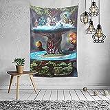 Yggdrasil – Impression de visionnaire surréaliste représentant un arbre du monde métaphysique nordique comme décoration murale et décoration d'intérieur pour chambre, salon, dortoir 152,4 x 101,6 cm