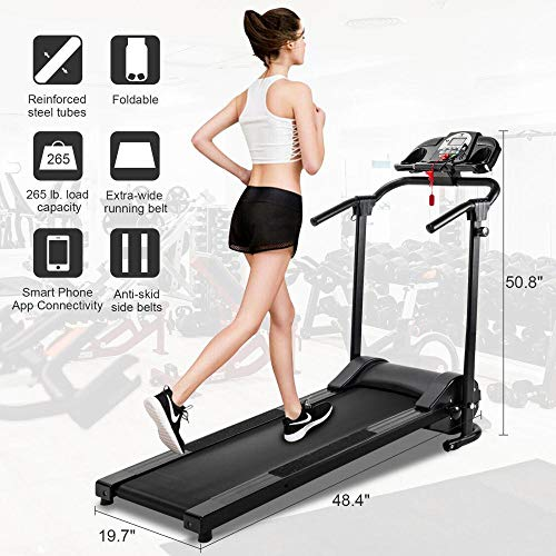 Best Buy! Isaa Miilne Folding Treadmill Electric Motorized Running Machine Home Gym w/APP & MP3 Play...