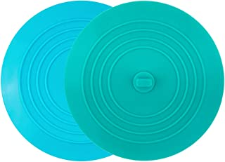 tifanso 2 Pack Silicone Tub Stopper Recyclable Bathtub Drain Stopper Upgraded Drain Plug Cover for Bathrooms and Laundries Kitchen Universal Use 6 inches (Teal/Aqua)